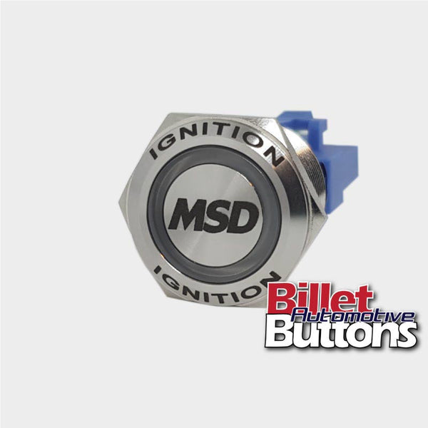 22mm FEATURED 'MSD' Billet Push Button Switch Ignition