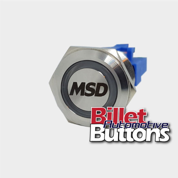 22mm 'MSD' Billet Push Button Switch Ignition