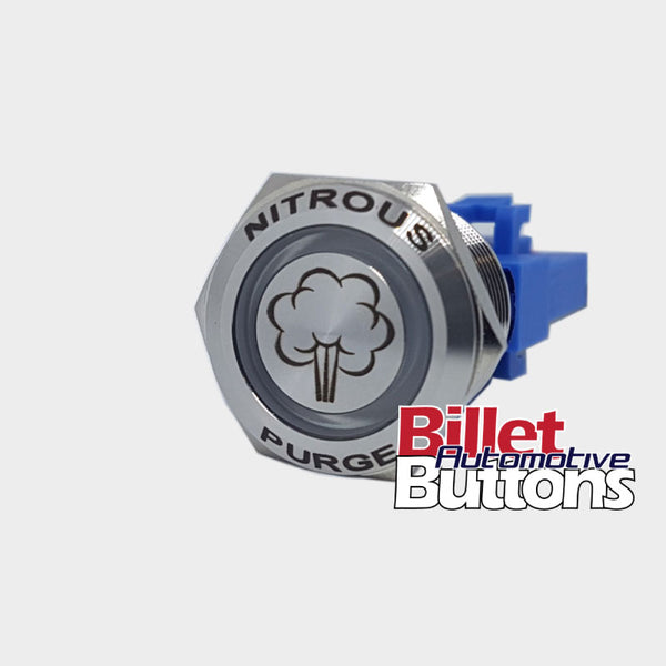 22mm FEATURED 'NITROUS PURGE SYMBOL' Billet Push Button Switch N2O NOS