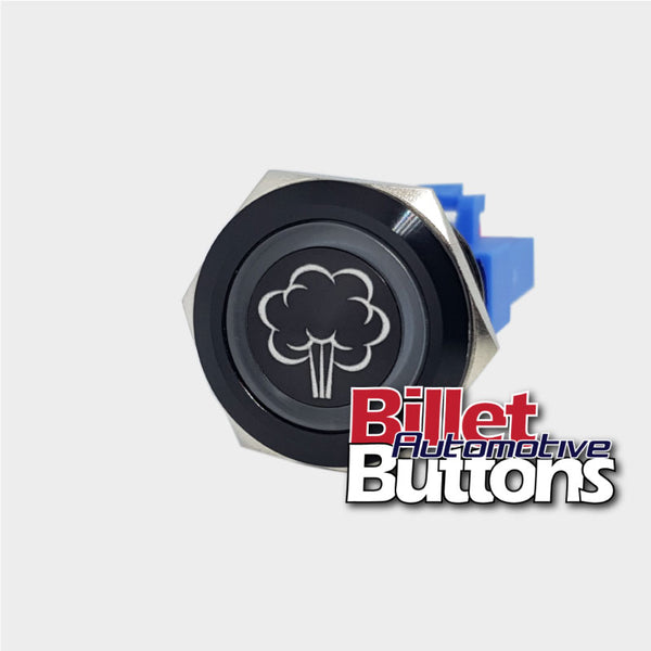 22mm 'PURGE SYMBOL' Billet Push Button Switch Nitrous Sprayer etc