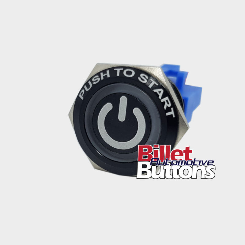 22mm FEATURED 'POWER SYMBOL' Billet Push Button Switch Push To Start