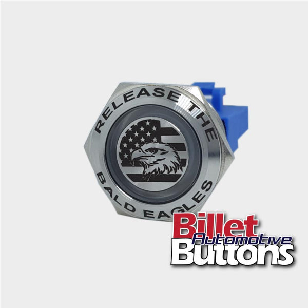 Release the bald eagles push button switch billet automotive buttons cleetus mcfarland