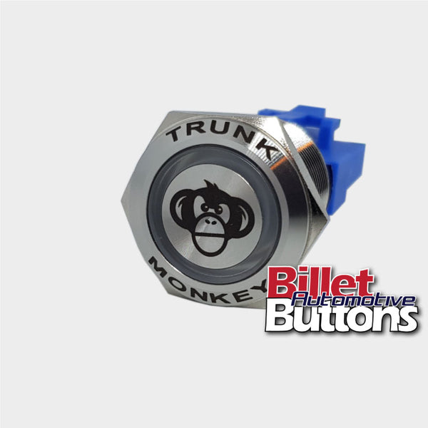 22mm FEATURED 'TRUNK MONKEY' Billet Push Button Switch