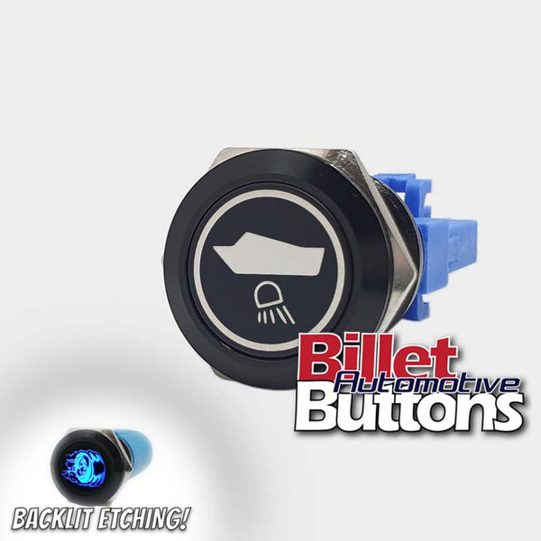 22mm 'UNDERWATER LIGHTS REAR SYMBOL' Billet Push Button Switch Marine AFT