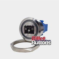 28mm 'BATTERY ISOLATOR SYMBOL' Billet Push Button Kill Switch