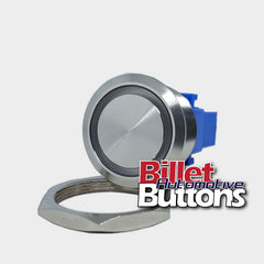 28mm 'BLANK' Billet Push Button Switch