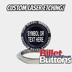 28mm 'CUSTOM LASER ETCHING' Design Your Own Billet Push Button Switch