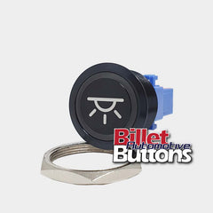 28mm 'DOME LIGHT SYMBOL' Billet Push Button Switch Interior Lights