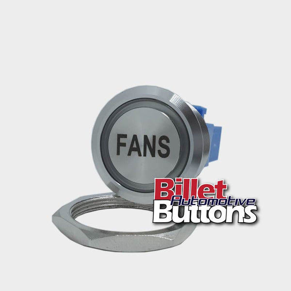 28mm 'FANS' Billet Push Button Switch Engine Thermo