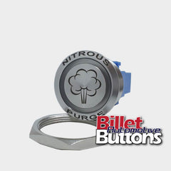 28mm FEATURED 'NITROUS PURGE SYMBOL' Billet Push Button Switch N2O NOS