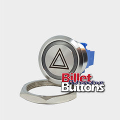 28mm 'HAZARD SYMBOL' Billet Push Button Switch Lights