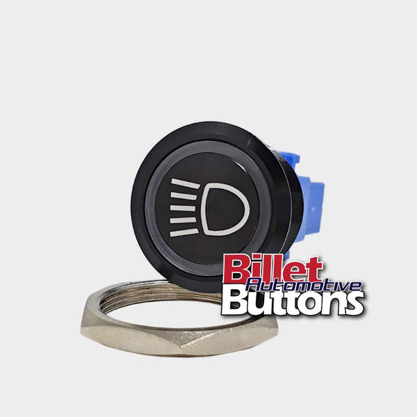 28mm 'HEADLIGHTS SYMBOL 2' Billet Push Button Switch Lights High Beam