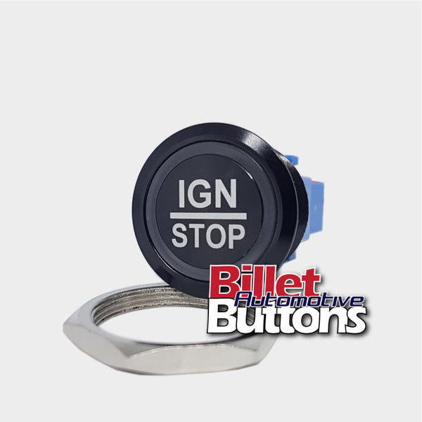 28mm 'IGN/STOP' Billet Push Button Switch Ignition