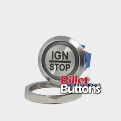 28mm 'IGN/STOP' Billet Push Button Switch