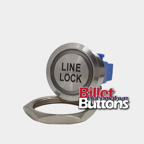 28mm 'LINE LOCK' Billet Push Button Switch Brake Locker
