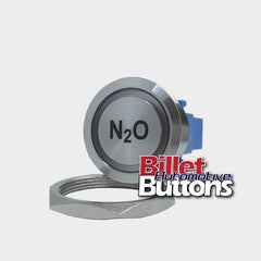 28mm 'N2O' Billet Push Button Switch Nitrous Oxide Arming NOS