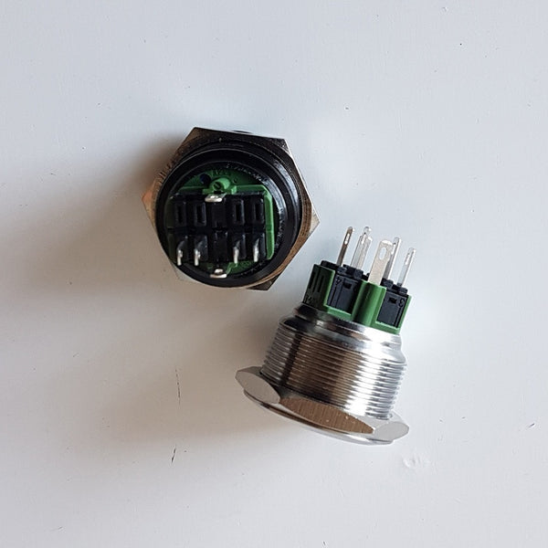 28mm 'ROCK LIGHTS' Billet Push Button Switch