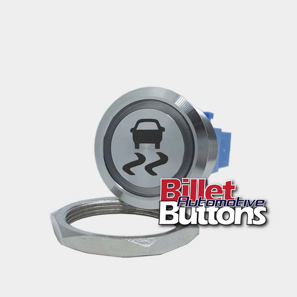 28mm 'TRACTION CONTROL SYMBOL' Billet Push Button Switch Launch Control