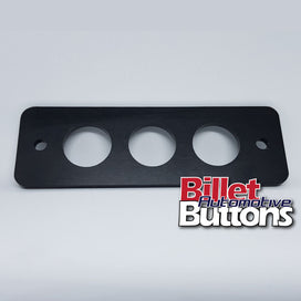 22mm Billet Button 3 hole laser cut panel 125x41mm