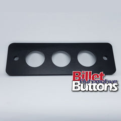 Billet Button 3 hole laser cut panel