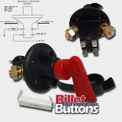 Battery Isolator Kill 6 Pole Ignition Cut Off Master Switch Key drag drift FIA IHRA ANDRA CAMS