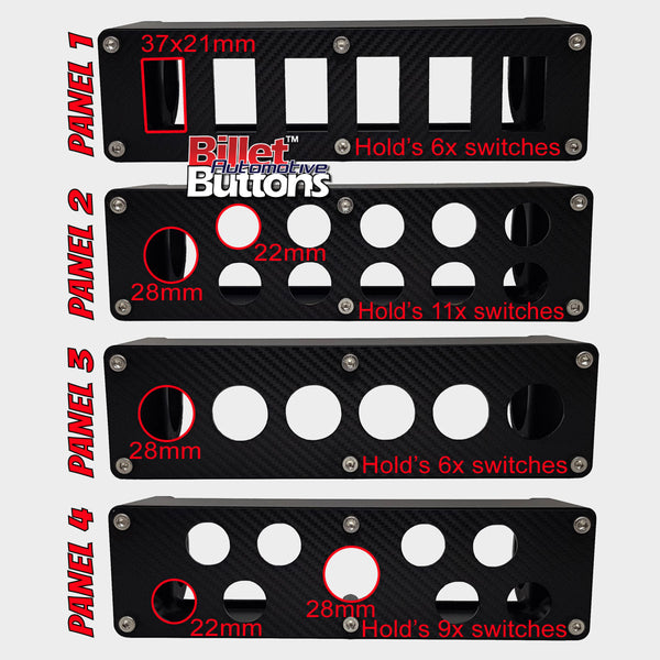 Billet Roll Cage Switch Box for Billet Buttons