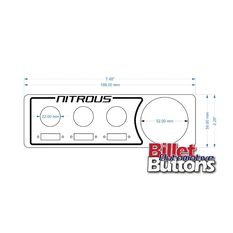 Laser Cut Switch Panel Billet Buttons Fuse Mount Single