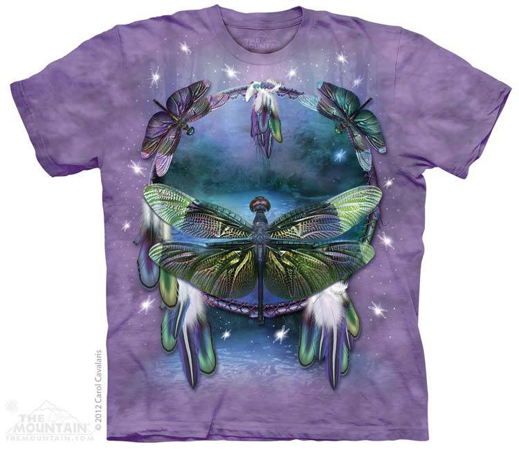 Dragonfly Dreamcatcher - T-Shirt - Moonstoneartwear