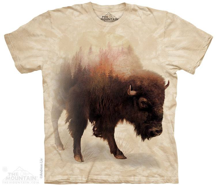 Bison Forest - T-Shirt - Moonstoneartwear