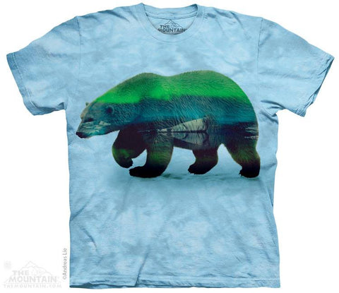 Aurora Polar Bear - T-Shirt - Moonstoneartwear