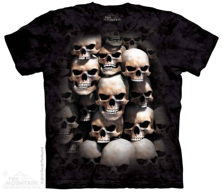 Skull Fire - T-Shirt - Moonstoneartwear