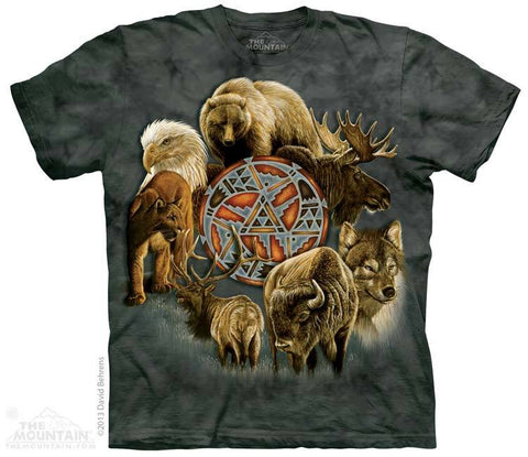 Animal Spirit Circle- T-Shirt - Moonstoneartwear