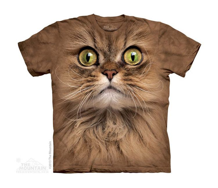 Big Face Brown Cat - Youth - Moonstoneartwear