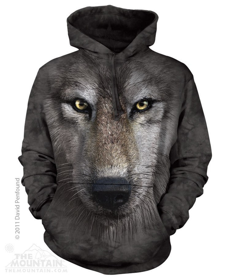 Wolf Face - Hoodies - Moonstoneartwear