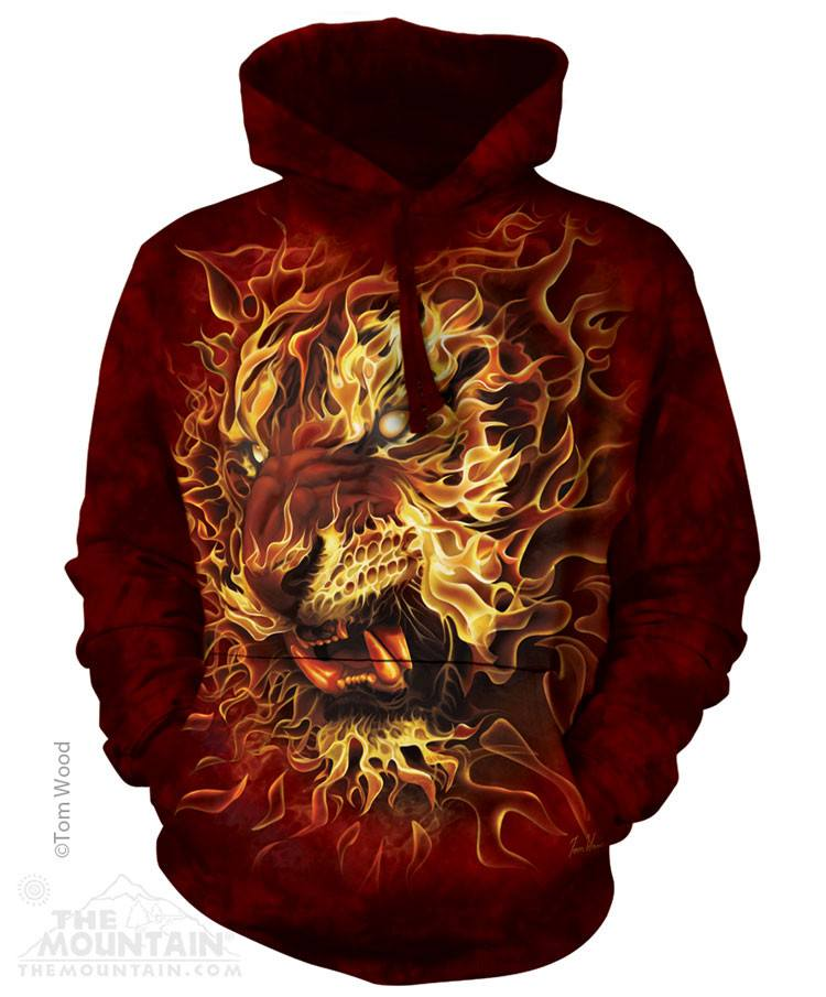 Fire Tiger - Hoodies - Moonstoneartwear