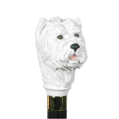 Classic Canes West Highland White Terrier, hardwood shaft, gilt collar