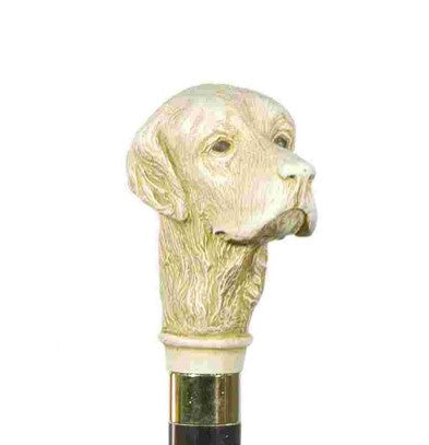 Classic Canes Imitation ivory Golden Retriever head cane