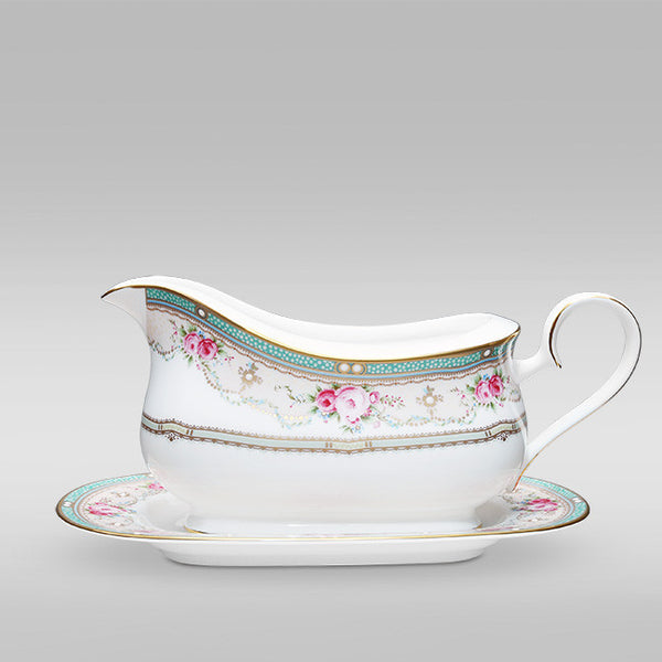 Palace Rose 4863 Gravy Boat and Tray (2 piece)