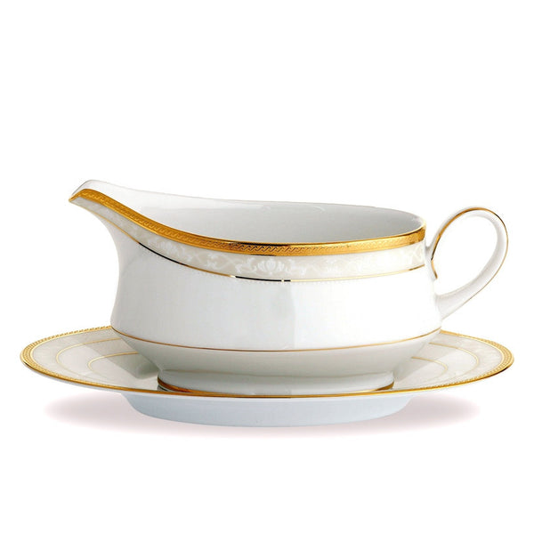 Hampshire Gold 4335 Gravy Boat and Tray (2 piece)