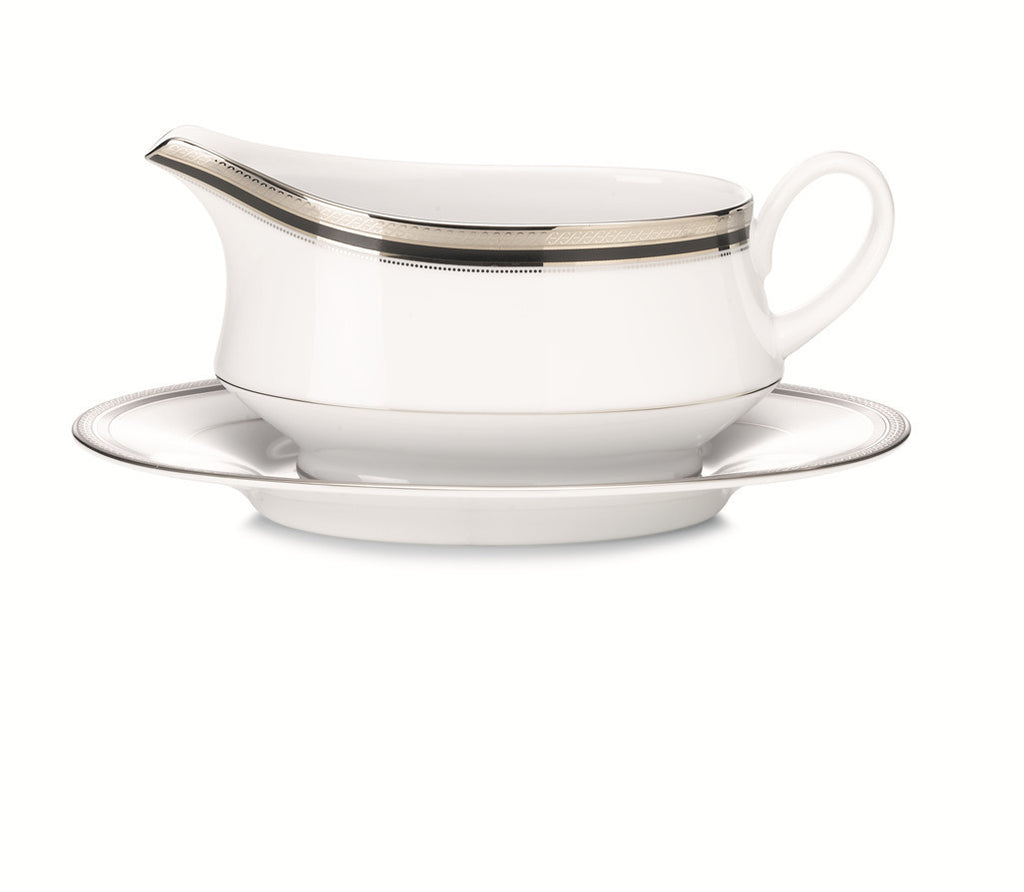 Austin Platinum 4360 Gravy Boat and Tray (2 piece)