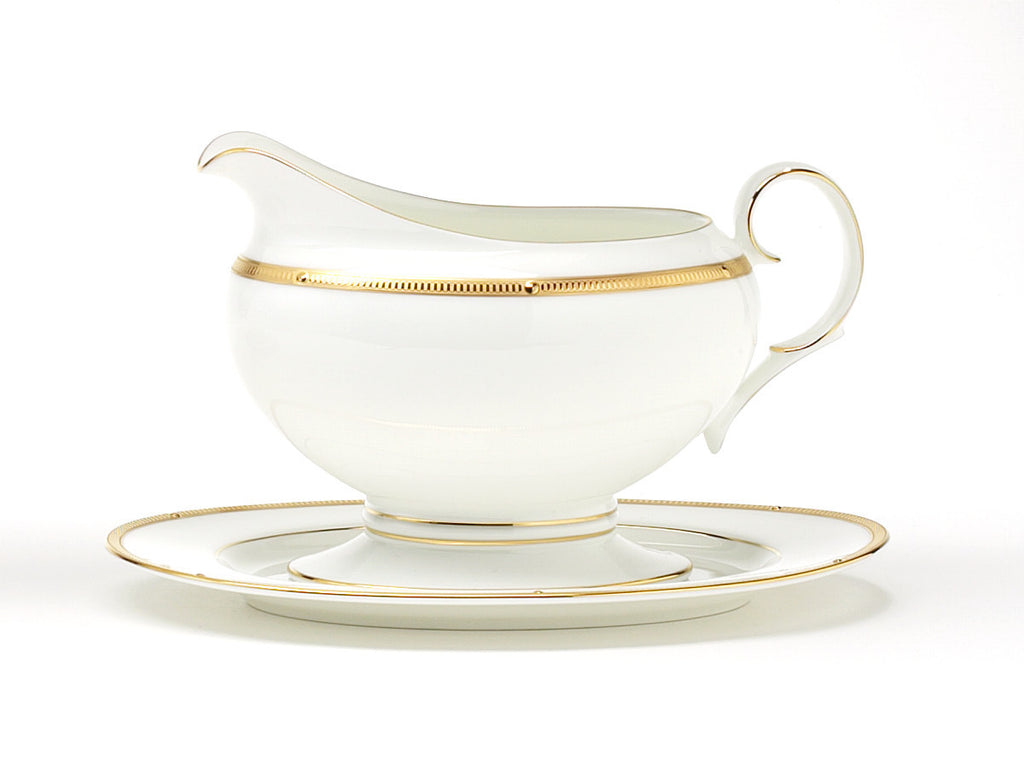 Rochelle Gold 4796 Gravy Boat and Tray (2 piece)