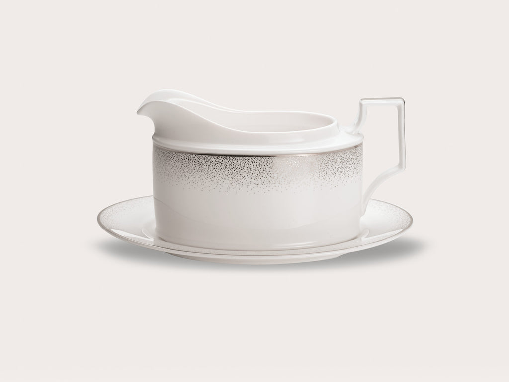 Alana Platinum 4881 Gravy Boat and Tray (2 piece)