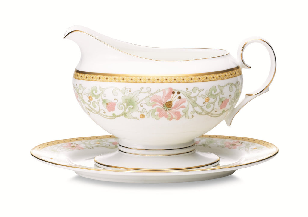 Blooming Splendor 4892 Gravy Boat and Tray (2 piece)