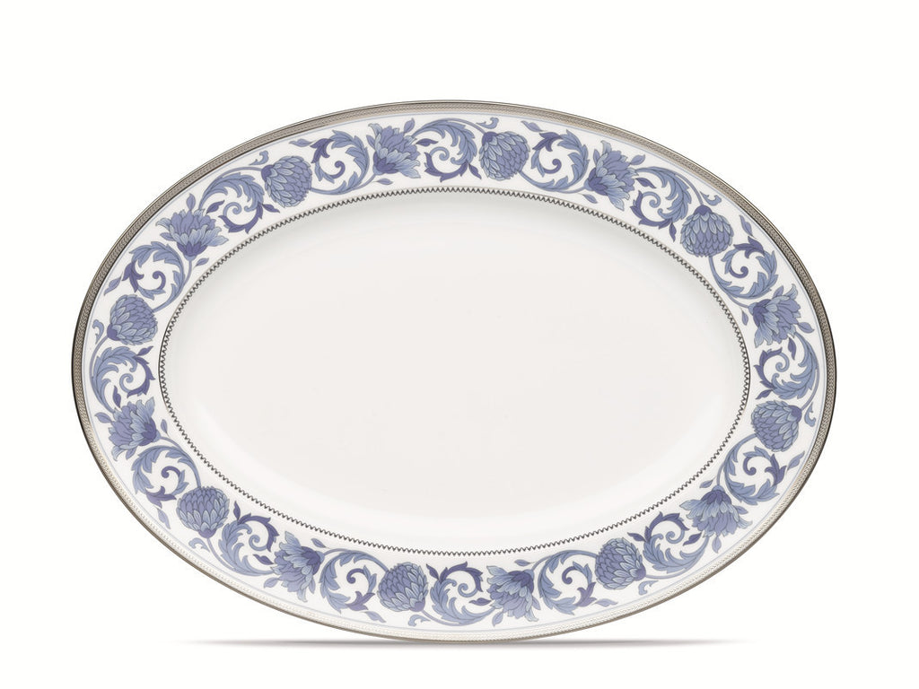Sonnet in Blue 4893 Oval Platter Large 41cm