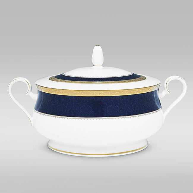 Odessa Cobalt Gold 4923 Covered Vegetable / Casserole