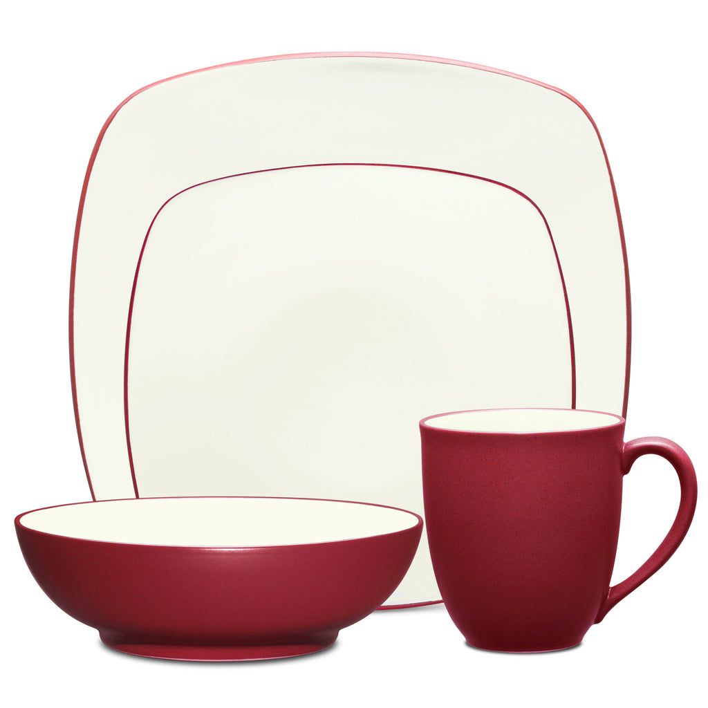 Colorwave Raspberry 8045 4pc Square Place Setting
