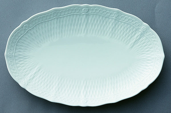 Cher Blanc 1655 Oval Plate