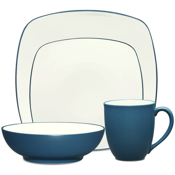 Colorwave Blue 8484 4pc Square Place Setting