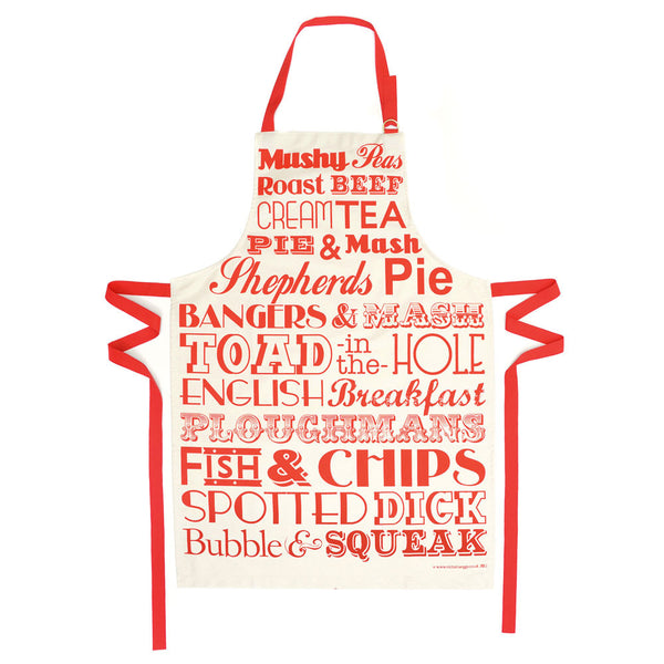 Victoria Eggs English Dinner Apron - Red