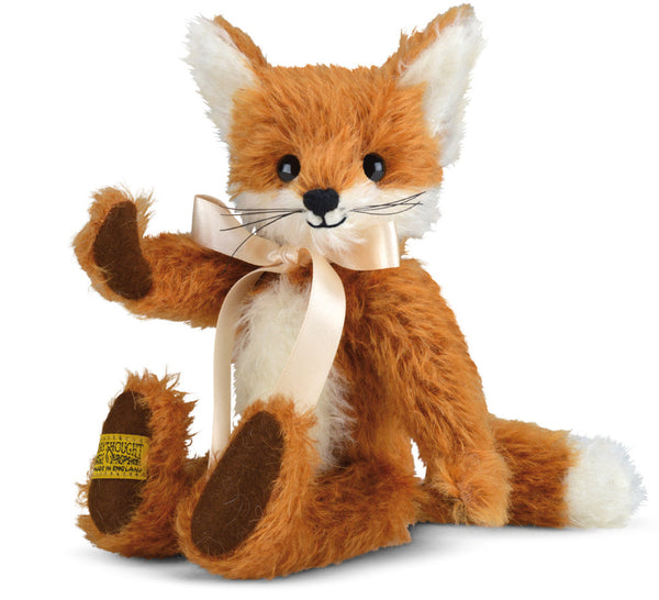 "Merrythought Freddy Fox 9"" handmade traditional teddy bear *Free Offical Merrythought Gift Box*"